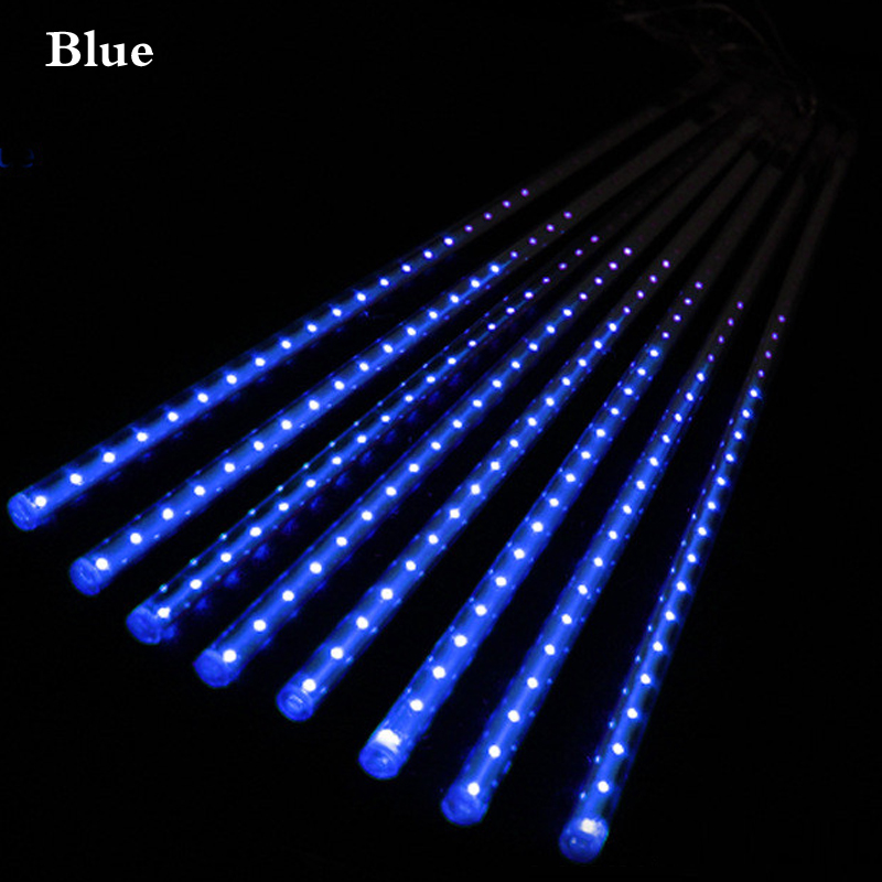 LED Meteor Shower Rain Tubes 8pcs 30cm 50cm LED Christmas Light Wedding Garden Decoration 100-240V EU Plug