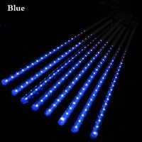Tubos de lluvia de meteorito LED 8 Uds 30cm 50cm luz LED de Navidad decoración de jardín de boda 100-240V enchufe de la UE
