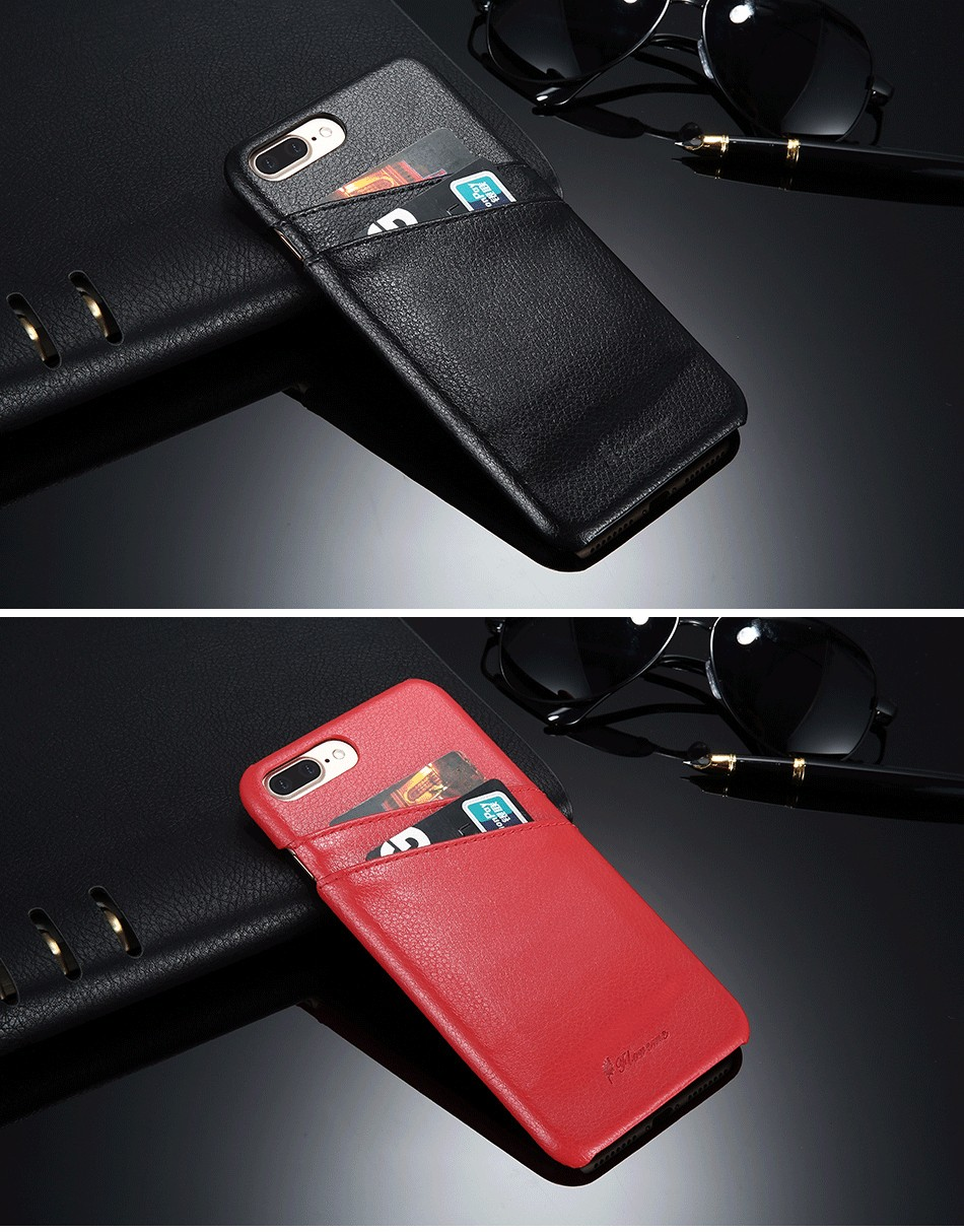 genuine leather card slot case for iPhone 6 6s Plus 7 7 Plus (17)