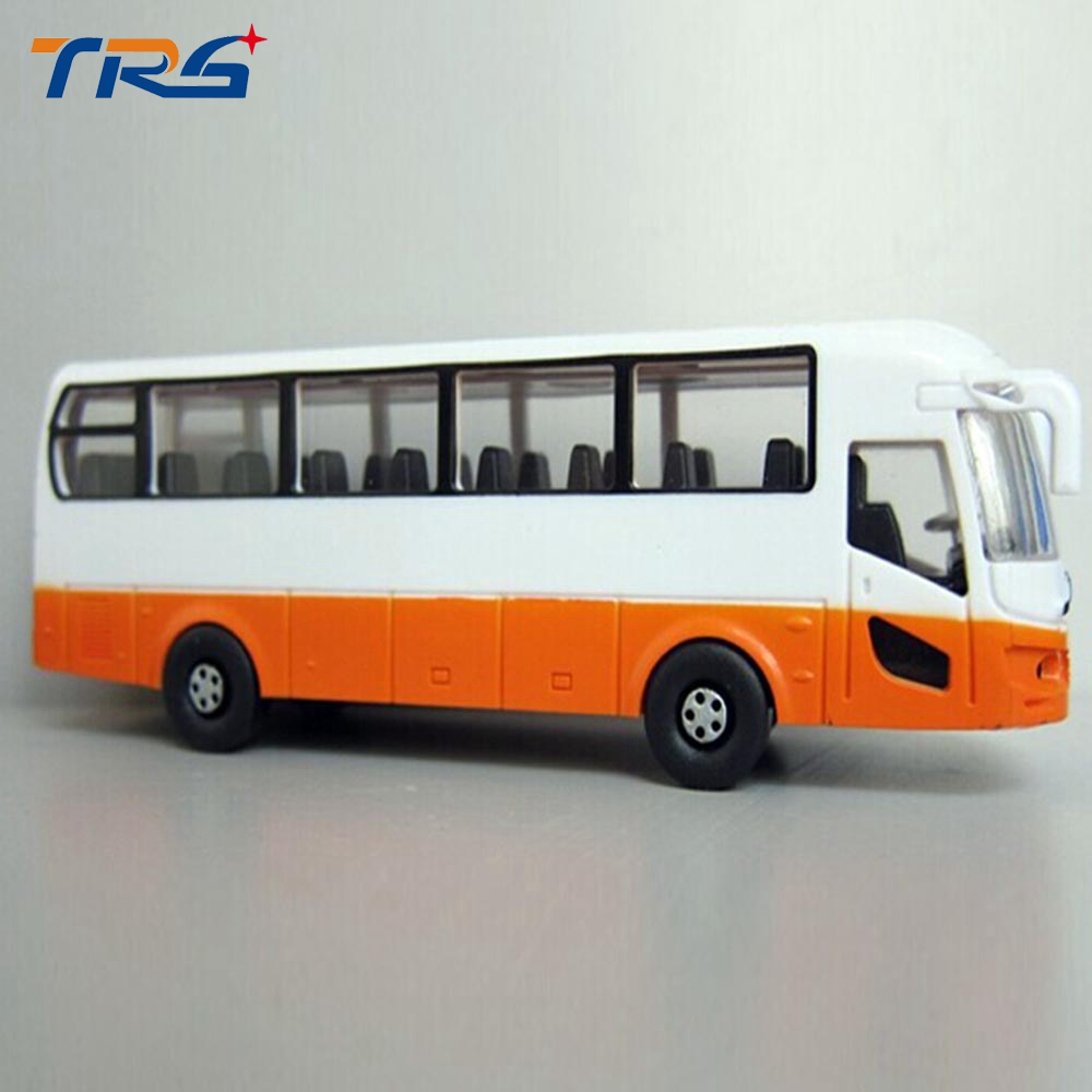 Toy Plastic Model Bus Kits 1:100 Architectural Layout Scale Bus Model Children's Toys Above 3 Year Old