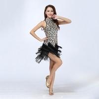 Sexy Bling Latin Sequins Ballroom Salsa Samba Rumba Tango Dress Dance Performance Dress