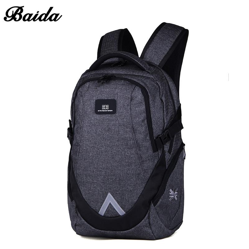 BAIDA Business Rygsæk Mochila Escolar Casual Laptop Rygsække Høj kvalitet Tasker Til Unisex Travel Bag