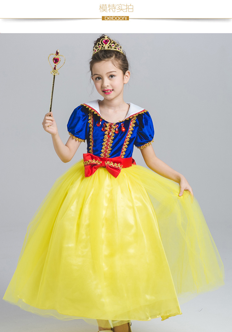 Girls Baby Kid/'s Costume Dress for Halloween Birthday Party Cosplay Snow White