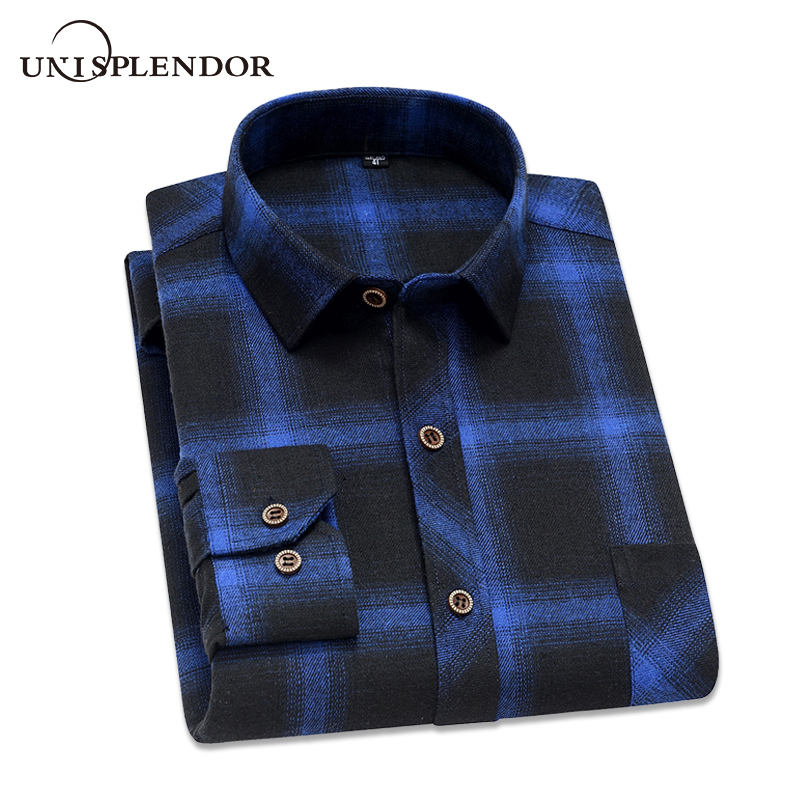 New Arrival Spring Plaid Men's Shirt Print Vacation Casual Man Boy Shirt Long Sleeved Shirt Male Slim Fit Brand Clothing YN10458