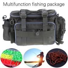 Outdoor Sports 600D Canvas Fishing Bag Large Capacity Multifunctional Lure Fishing Tackle Pack Outdoor Shoulder Bags 35*22*21cm
