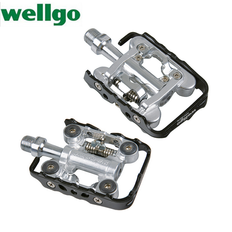 Wellgo Wpd M17c Self Lock Pedal Lightweight Pegs Mountain Bike Mtb