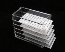 5 слоев Ясно Футляр для ресниц Box Макияж Дисплей контейнер держатель для ресниц случае прививки ресниц прозрачной коробке расширение