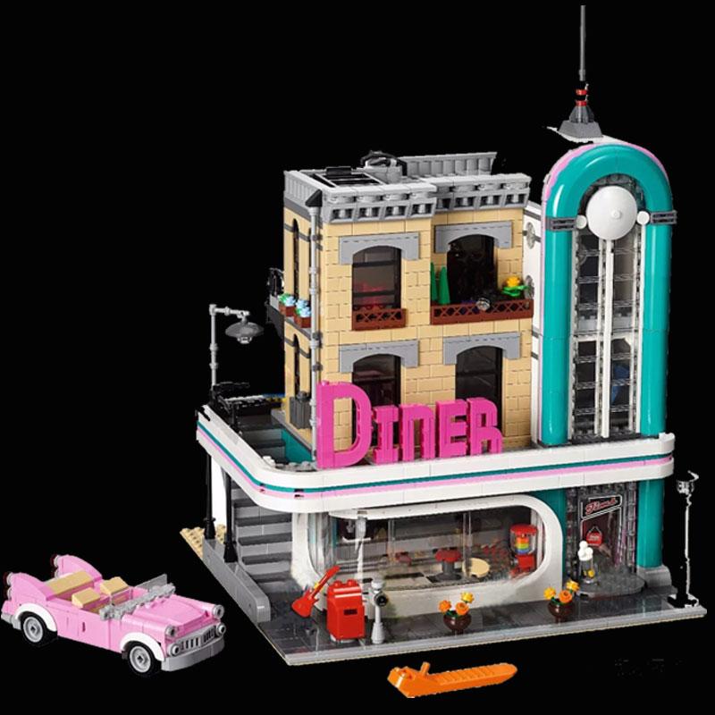 Lepin 15037 The Downtown Diner Set Genuine 2778Pcs Streetview Series 10260 Building Blocks Bricks Funny Toys DIY Gifts купальник sherman sm15037 15037