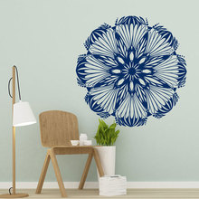 Mandala Wall Sticker Vinyl Home Decor Room Yoga Studio Murals Lotus Flower India Decals Removable Interior Design YD91