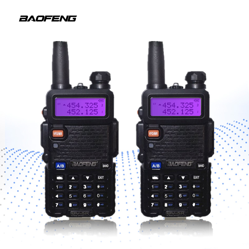 2 PCS BaoFeng UV 5R Walkie Talkie 10km Portable Radio CB Radio UV5R Baofeng UV 5R