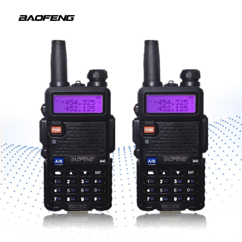 2-PCS BaoFeng UV-5R Walkie Talkie 10km Bärbar Radio CB Radio UV5R Baofeng UV 5R Talkie Walkie Handhållen Jakt Radio Transceiv