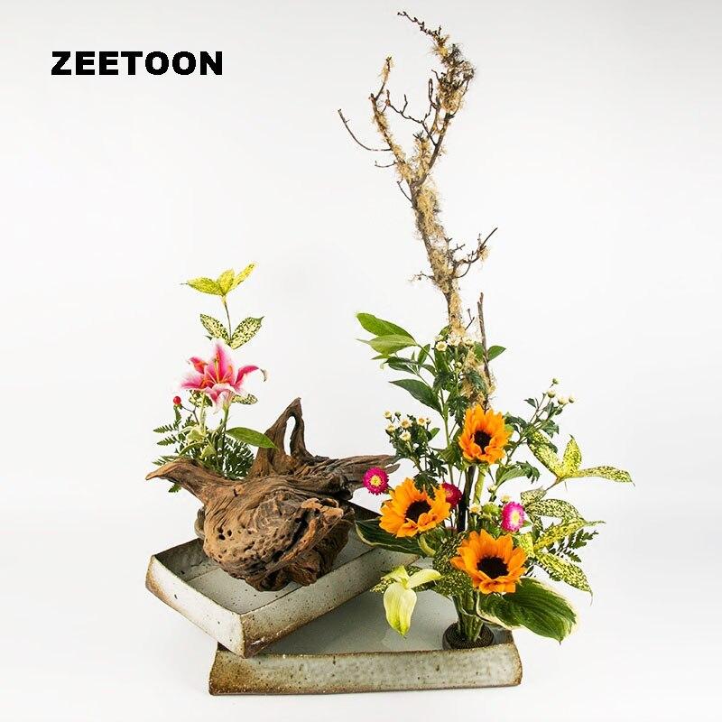 Japonais Vase Floral Pot de fleur ikea hydroponique en céramique conteneur table Pot de fleurs jardinières eau plat Vintage décor à la maison