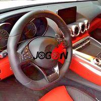 Car Carbon Fiber Steering Wheel Trim For Mercedes Benz A C E Class W205 C63 W176 A45 W213 E63 CLS63 CLA45