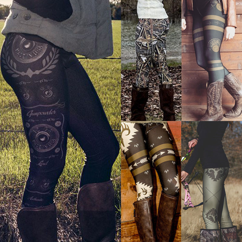 2017 Hot Sale Women Leggings Skinny Print Stretchy Sexy Pencil Pants Vintage Casual Style Multiple Choice Real Photo