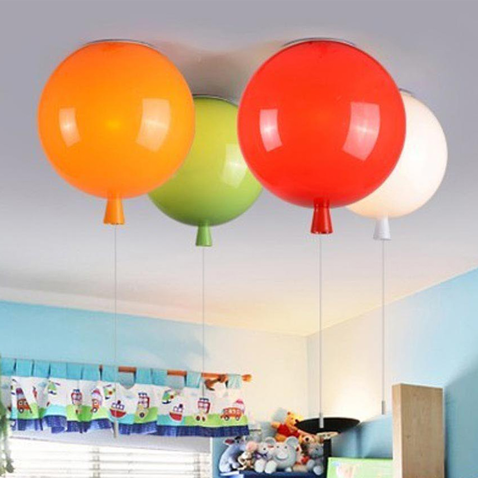 Colorful Balloon Ceiling lamp, Cute Lampshade for Children Room Living Room Decoration Fixture Ceiling Lights,Dia.35cm 6 5ft diameter inflatable beach ball helium balloon for advertisement