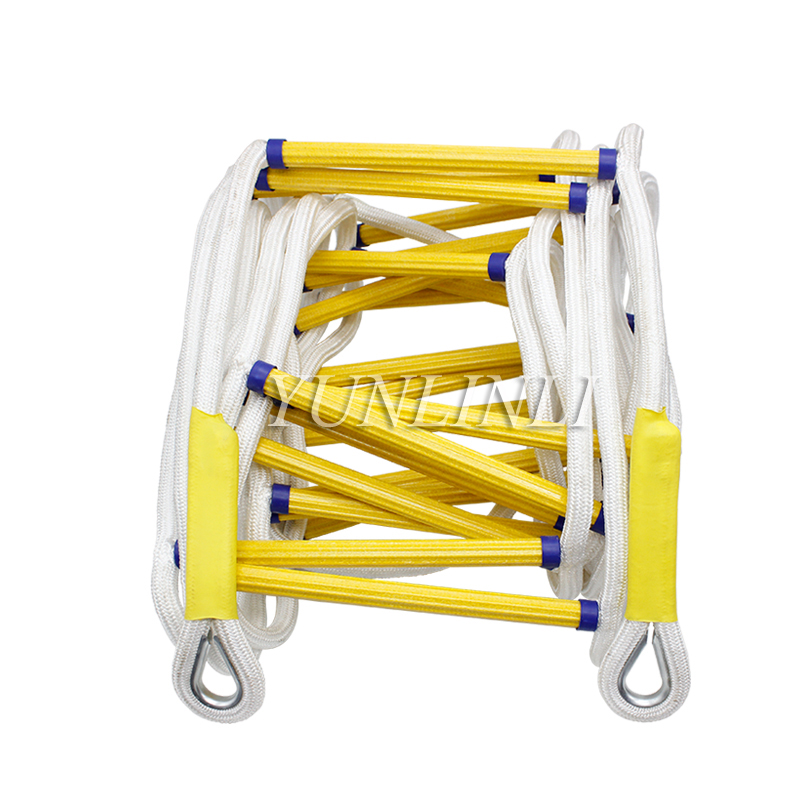 15M Rescue Rope Ladder Fire Escape Ladder Emergency Work Safety Response Fire Rescue Rock Climbing Escape Aerial Work Rescue