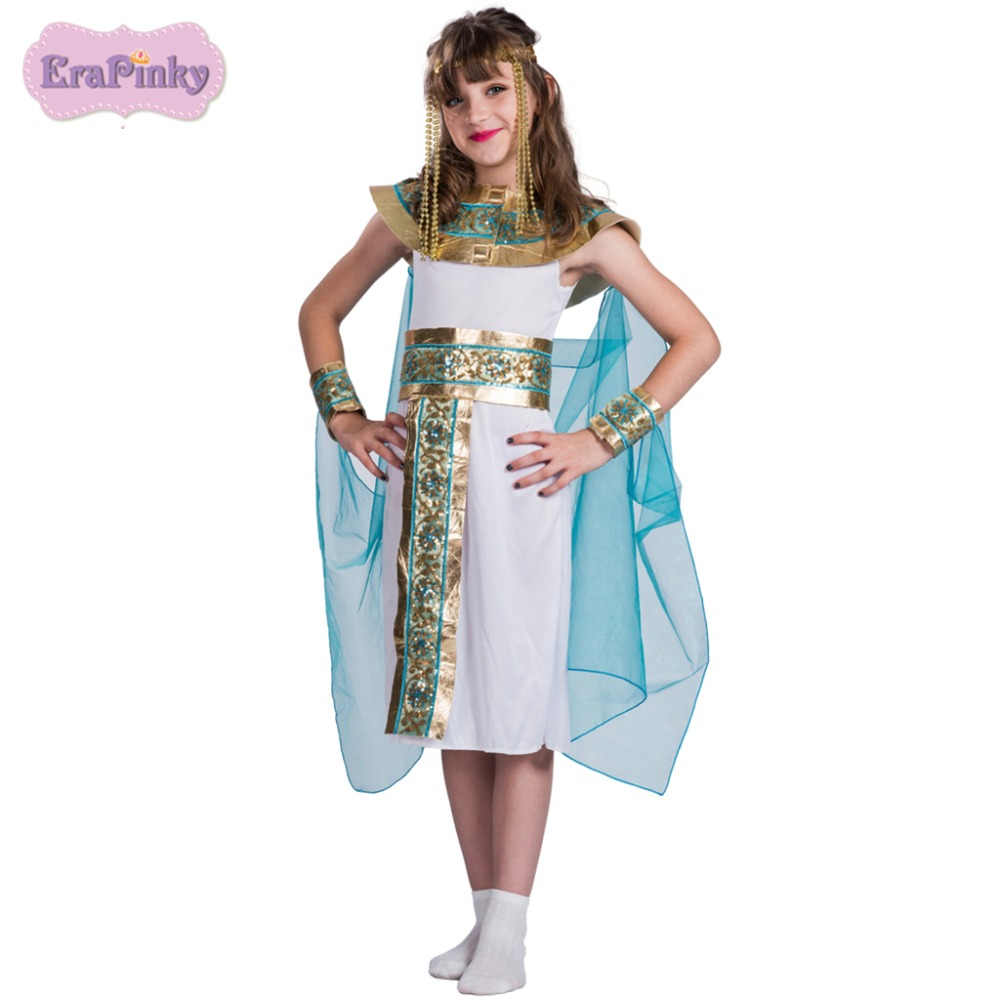 Erapinky Carnival Costume For Kids Noble Egyptian Queen Dress Teenager 4-14T Party Holiday Children Dresses Up For Girls anniyo egyptian queen nefertiti pendant
