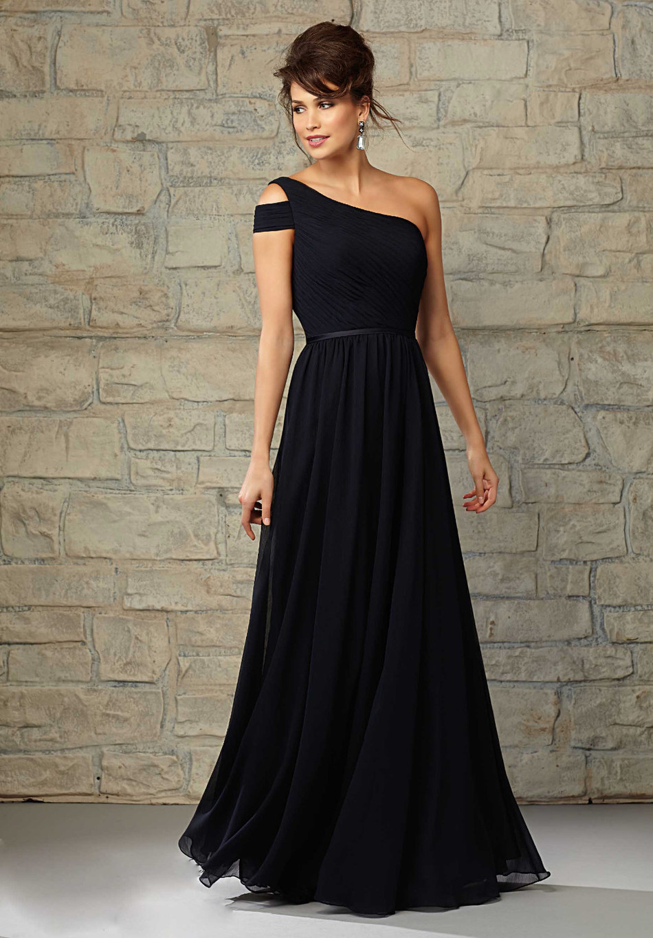 Online Buy Wholesale long black chiffon dress bridesmaid from ...