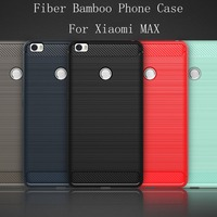 5 Color The Latest Carbon Fiber Bamboo Phone Cover Case For Xiaomi Mi Max Luxury Mobile