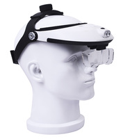 1.0X 1.5X 2.0X 2.5X 3.5X Helmet Magnifier Headlamp Magnifying Glass with Light LED Illuminated Head Dental Surgical Loupe