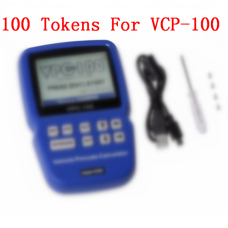 100 Tokens for VPC 100 Hand Held Vehicle Pin Code Calculator vpc100 100 tokens English