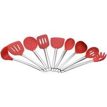 9 шт. многофункциональная силиконовая кухонная утварь кухонный набор инструмент для приготовления пищи с антипригарным покрытием HY99 JU26