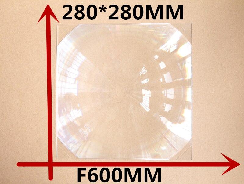 2017 chaud 1 pcs/lot livraison gratuite lentille de Fresnel carré 280*280 MM longue focale 600mm bricolage projecteur lentille de fresnel