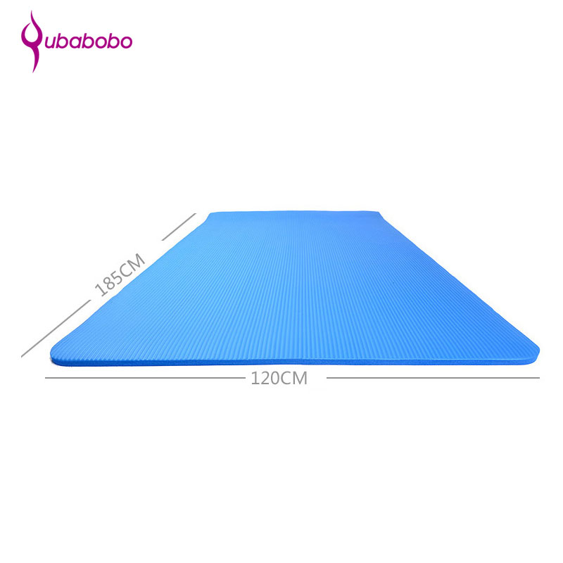 [QUBABOBO] 185cm*120cm*1.5cm Double Yoga Mat Widen Non-slip Fitness Mat Pilates Balance Sport Cushion Brand Exercise Pad yoga pilates mat pu 5mm for beginners and seniors widened workout yoga pilates gym exercise fitness gym mat