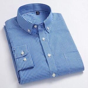 Image 3 - Nieuwe Aankomst mannen Oxford Wassen en Dragen Plaid Shirts 100% Katoen Casual Shirts Hoge Kwaliteit Fashion Design mannen jurk Shirts