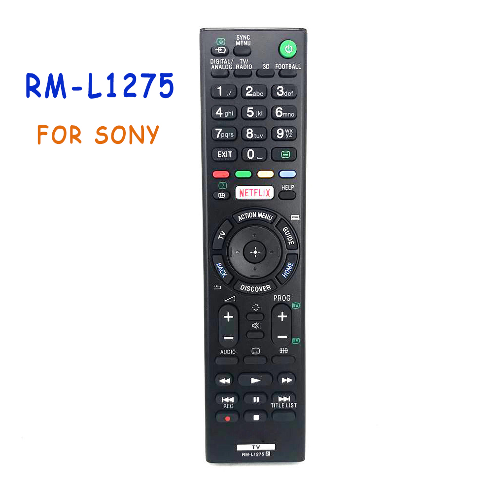 Universal RM-L1275 Remote Control For Sony Led Bravia TV with Netflix mando RMT-TX100D RMT-TX100E Most Bravia TV Controle new original voice remote control rmf tx200p for sony 4k bravia lcd led tv