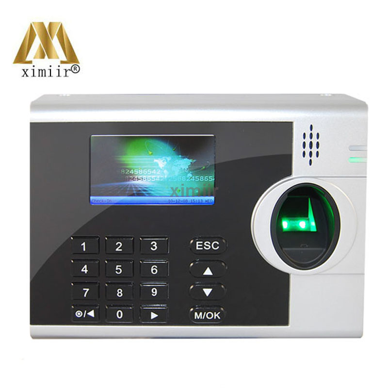 6 Function Keys Time Clock XM218 Fingerprint Recognition Device Fingerprint Time Attendance External Printer Function By RS232
