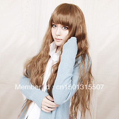 Lolita Wig Inspired by Sweet Lady Brown 70cm Princess Free shipping