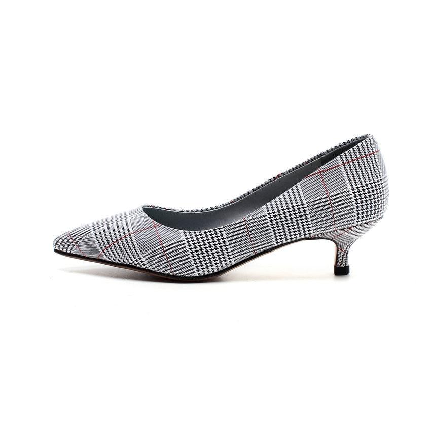 Otoño Nikove 34 Las Resbalón De Fino Tamaño Casuales Mujeres Rojo Dedo Zapatos En 2018 Primavera Y Pie Punta 43 Tacones blanco Del Altos Bombas Pu 1PPtxvwA