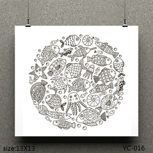 цена на AZSG Fat head fish/Fish King Clear Stamps For Scrapbooking DIY Clip Art /Card Making Decoration Stamps Crafts