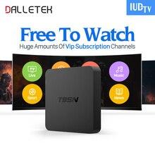 Dalletektv T95N Android 6.0 Smart TV Box S905X 4 K H.265 IUDTV Code 3 6 12 Mois IPTV Abonnement Europe Français Arabe IPTV boîte