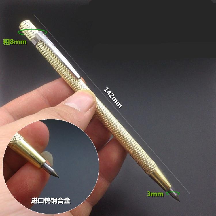 Scriber Marking Etching Pen Marking Tool Tungsten Steel Tip  14.2cm with Cap