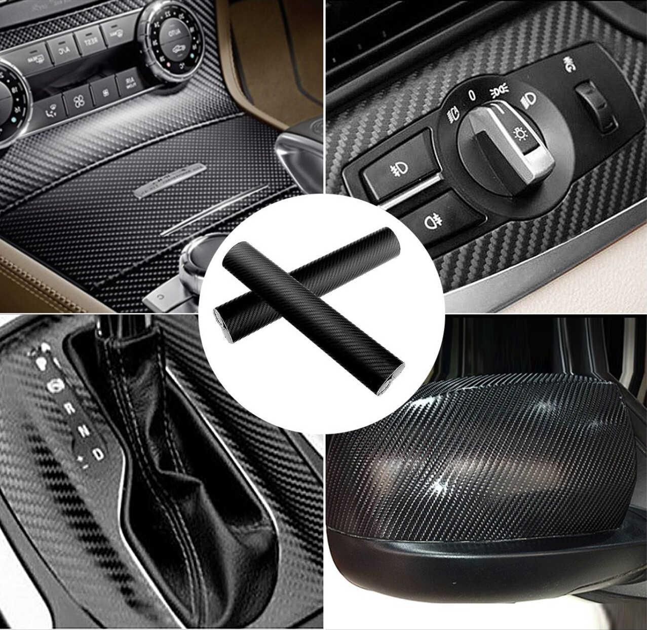 3D Serat Karbon Mobil Stiker Decals 2019 Hot untuk Citroen C4 Toyota Nissan Qashqai Suzuki SX4 Toyota C-Jam renault Fluence