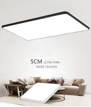 DX plafond moderne à LEDs luminaires Luminaire pour salon Hall Style minimaliste lampe Dimmable Ultra-mince carré blanc chaud Lustre