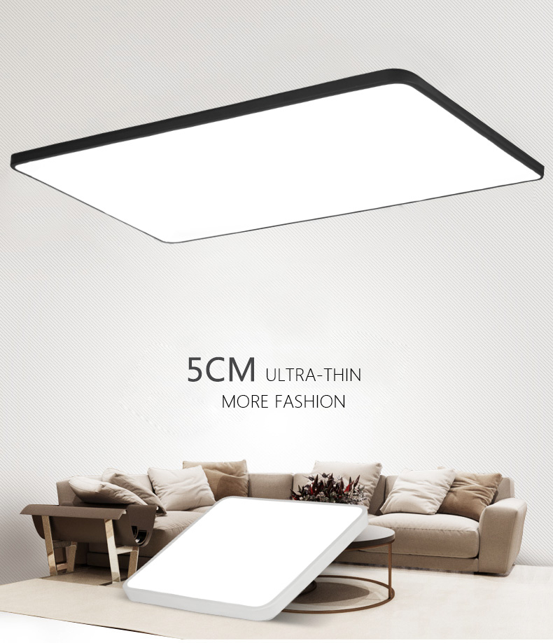 DX Modern Led Ceiling Lights Luminaire For Living Room Hall Minimalist Style Dimmable Lamp Ultra Thin Square Warm White Lustre