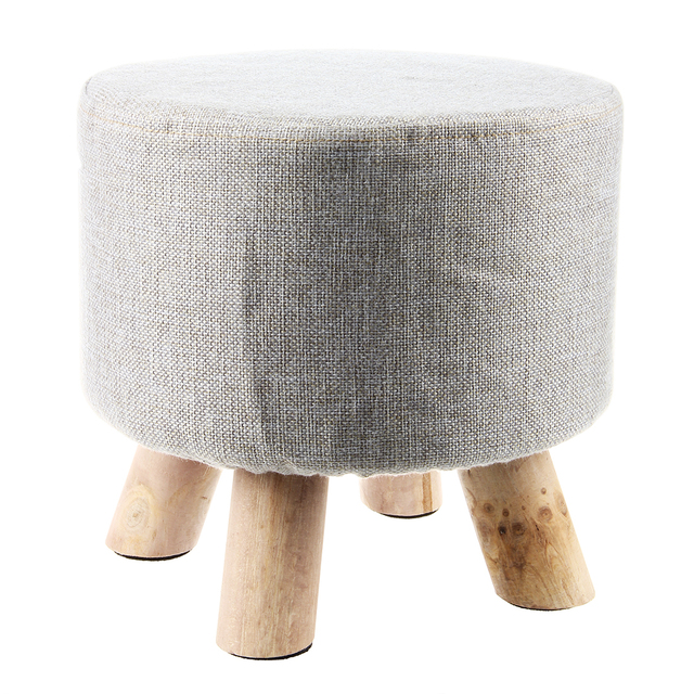 Modern Luxury Upholstered Footstool Round Pouffe Stool + Wooden Leg PatternRound FabricGrey  sc 1 st  AliExpress.com & Modern Luxury Upholstered Footstool Round Pouffe Stool + Wooden ... islam-shia.org