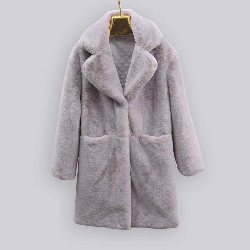נקבה אופנה נשים צמר מעילי גבוהה אלגנטי ארוך Slim חורף מעיל שחור רויאל מעילי צמר מעיל מעילים בתוספת גודל S-3XL