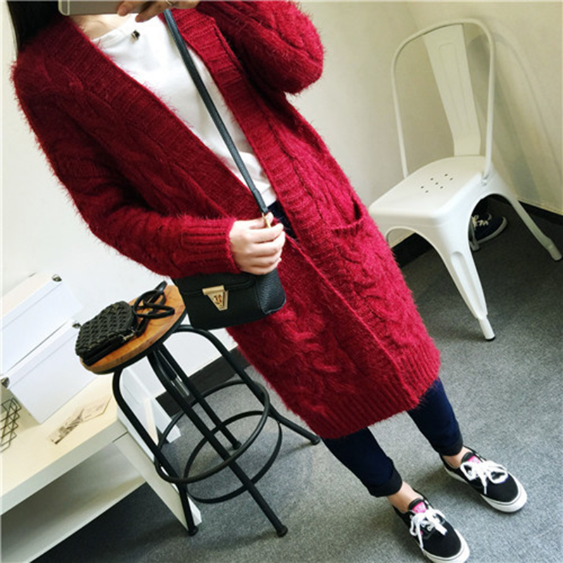 Winter Autumn New Sweater Women Cardigan Knitted Sweater Coat Long Sleeve Crochet Female Cashmere Casual V-Neck Cardigans Tops
