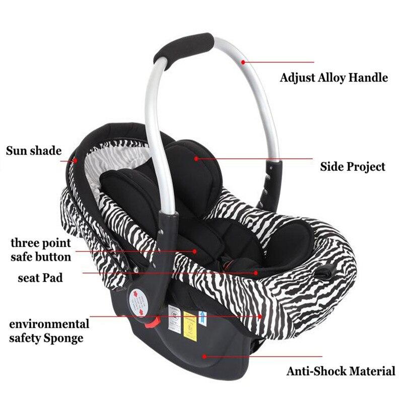 Newbore Carriage Carriage Infantil Criança Car Safe Seat Basket 0 - - Segurança para crianças - Foto 4