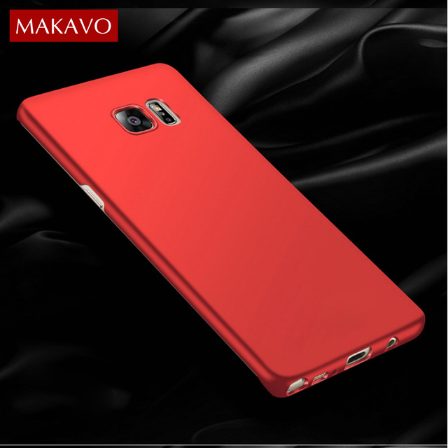new product da683 e43a5 US $7.27 |MAKAVO Cover For Samsung Galaxy Note Fan Edition FE Case 360  Protection Hard Matte Back Housing Phone Cases For Samsung Note 7-in Fitted  ...