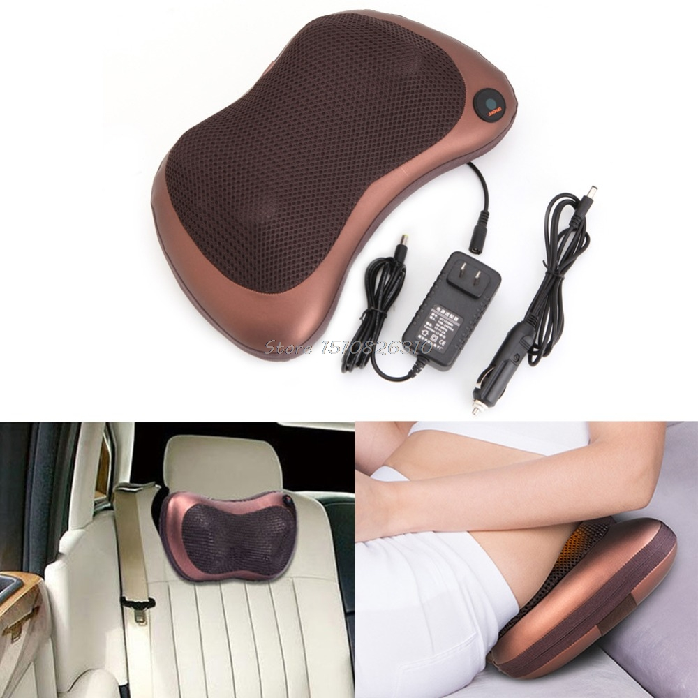 Electronic Massage Pillow Massager Cushion Car Lumbar Neck Back Shoulder Relax #Y207E# Hot Sale hot sale english proverb thinking dog design back cushion pillow case