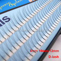 3 Trays 102 D-Lash Curl Natural Black Individual False Eyelashes Extension 12mm 10mm 8mm