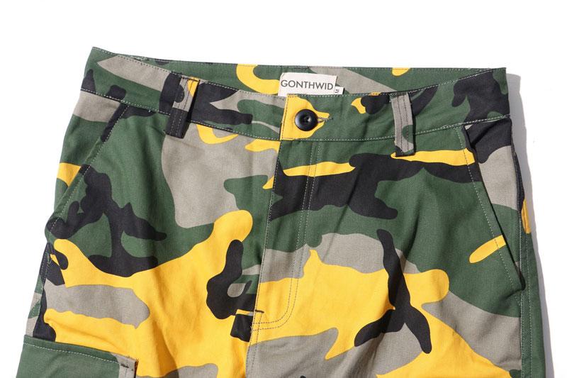 Tri Color Camo Patchwork Cargo Pants 6