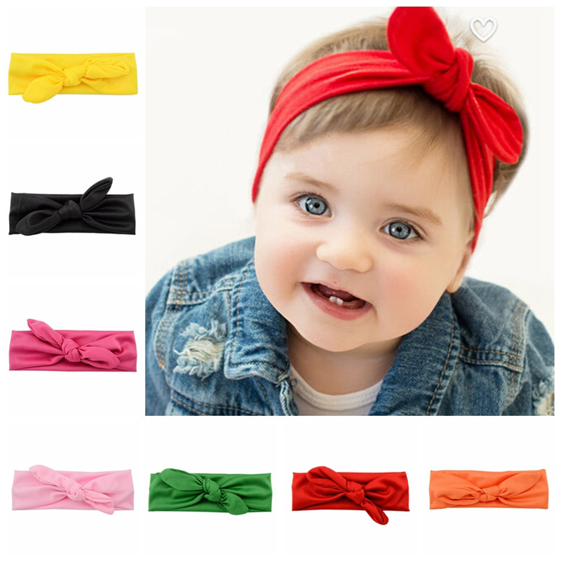 Kids Baby Elastic Headband Knot Tie Headwrap New Born Kids Hairband Turban Girls Tenia Headdress Head Bands Hair Accessories