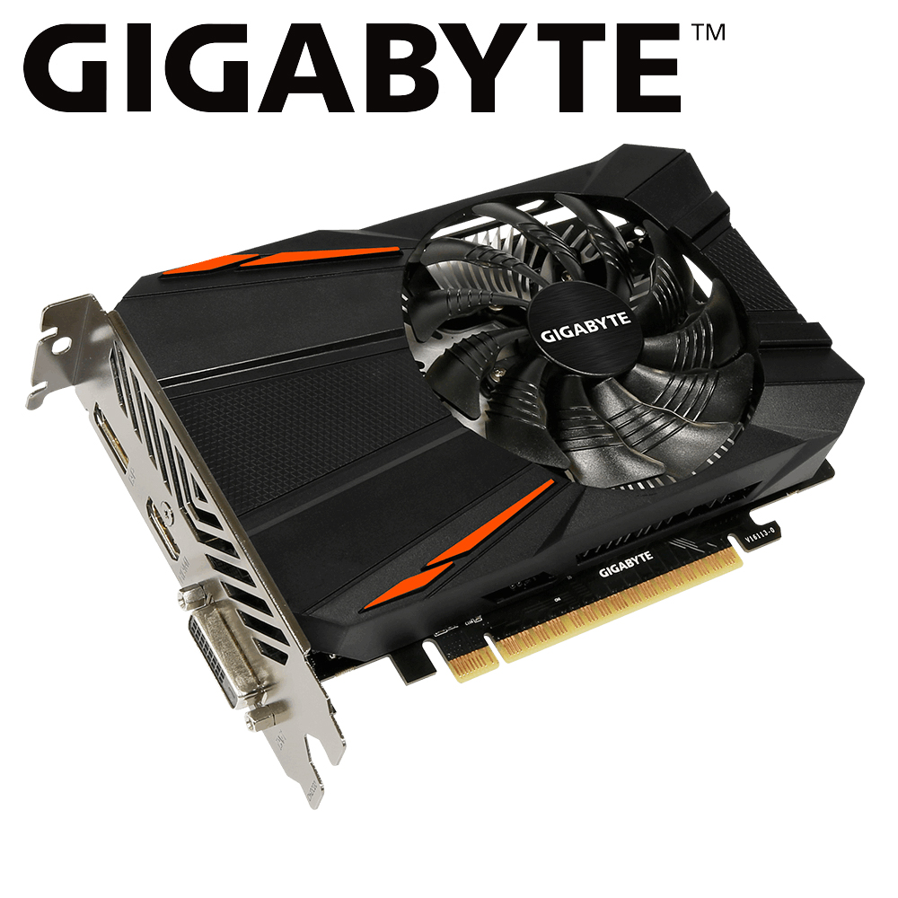Gigabyte graphic card <font><b>gtx</b></font> 1050ti by <font><b>GTX</b></font> <font><b>1050</b></font> <font><b>Ti</b></font> GPU from gigabyte <font><b>gtx</b></font> <font><b>1050</b></font> 1050ti GV-N105TD5-4GD GDDR5 <font><b>4GB</b></font> video card for pc image