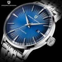 Reloj de negocios automático de lujo de marca de acero inoxidable 30M impermeable relojes mecánicos informales de moda para hombre diseño PAGANI